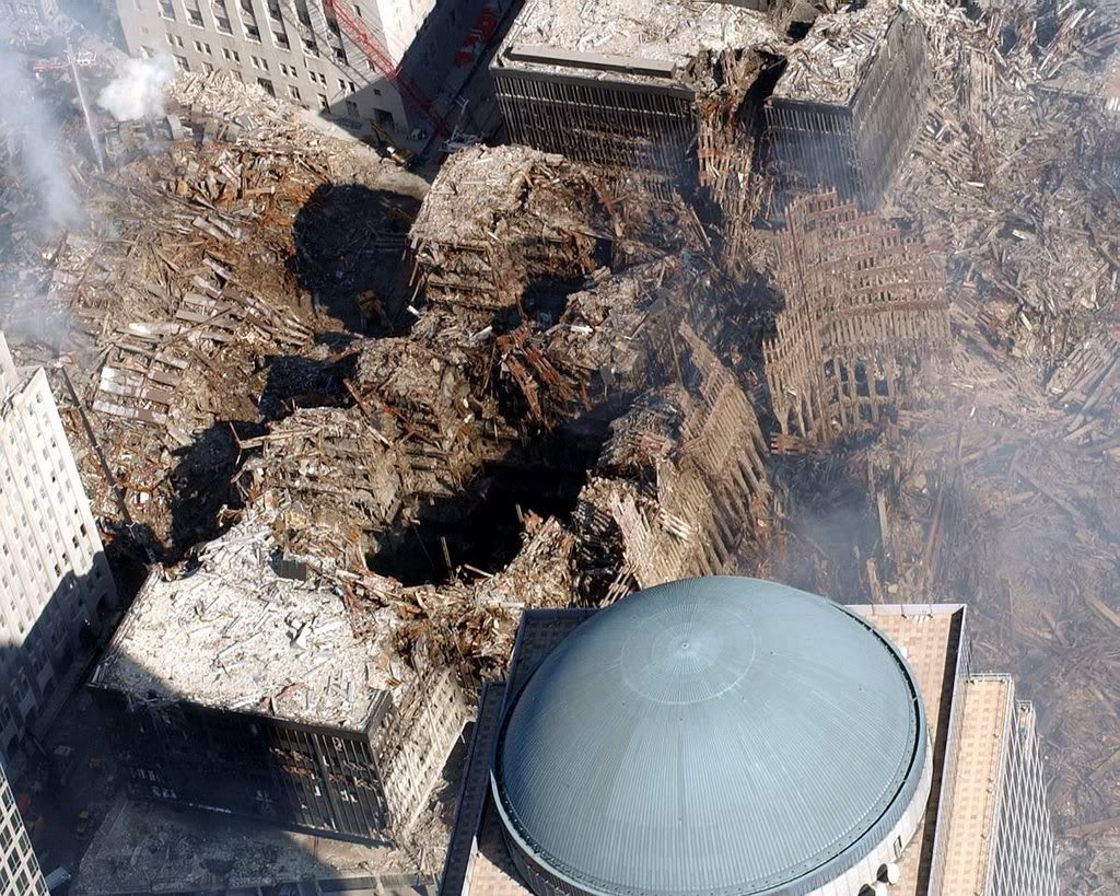 Crater Left by Collapse of WTC