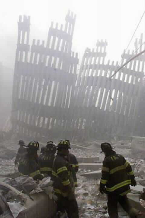 Firemen Amid WTC Rubble